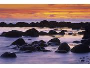 Sunset And Rocky Coastline Gros Morne National Park Newfoundland & Labrador Poster Print (17 x 11) Type: Prints Style: Frameless Frame Color/Finish: Artwork Reproduction Size Width: 17 Size Height: 11 Brand: Posterazzi