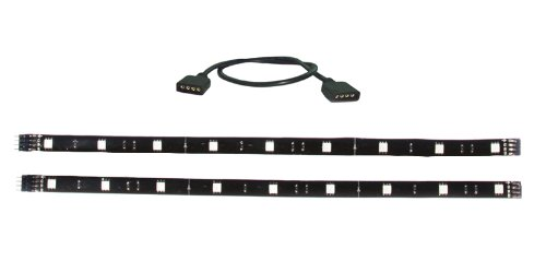 PPA OLSHARGB2 Home Accent LED Strips with 1 Foot Extension, Multi Color