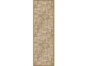 2.25' X 7.75' Earthly Statics Tan Brown And Antique White Area Throw Rug Runner