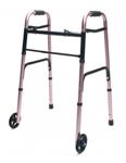 Lumex Lum716270pk-1 Folding Walker With Wheels