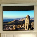 Silhouette/Series E Contrast White Electric Projection Screen Size/Format: 75