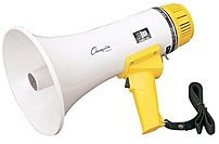 Champion Sports Mp8w 800 Yard Range Megaphone - Yellow, White