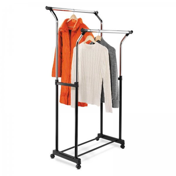 Adjustable Height Double Flared Garment Rack on Casters - by Honey-Can-Do - GAR-01119