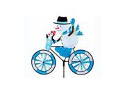 Snowman Bike Spinner