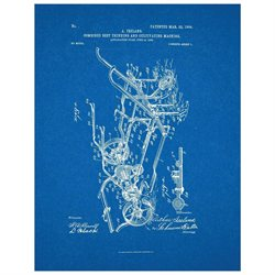 Combined Beet Thinning And Cultivating Machine Patent Art Print
