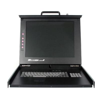 Startech Rackcons1708 1u 17 Rackmount Lcd Console With 8 Port Multi-platform Kvm - Kvm Console 1u Rack Mount With 17in Lcd