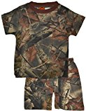 Trail Crest Infant Baby Boy Cotton Camo Short Sleeves T-Shirt and Pants Set, 3-6 Months