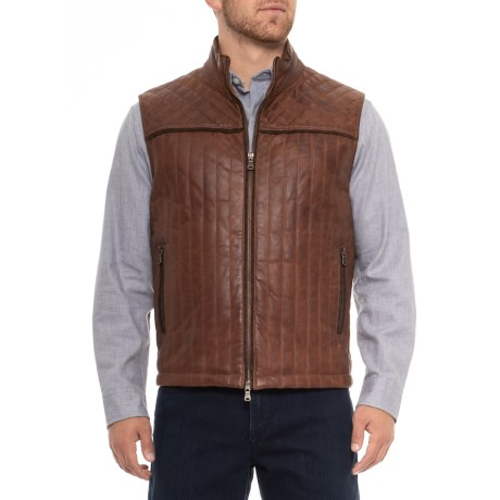 Earp Quilted Leather Vest (for Men)