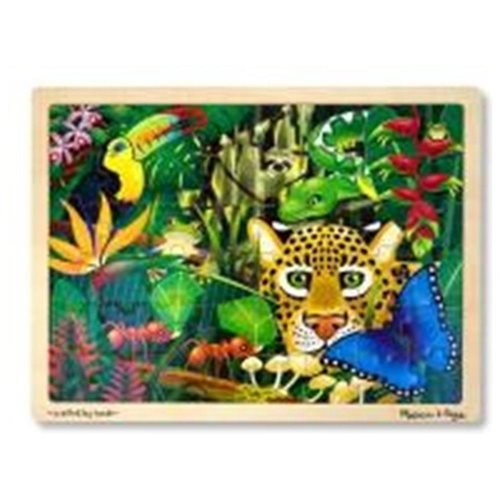 Melissa & Doug Rainforest Jigsaw Puzzle - 48 Pieces - Skill Learning: Forest, Wildlife - 48 Pieces