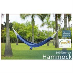 Saker Ultra Light Nylon Hammock w/ Pocket - Blue
