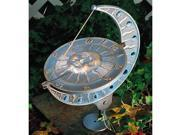 Sun And Moon Sundial - Copper Verdi
