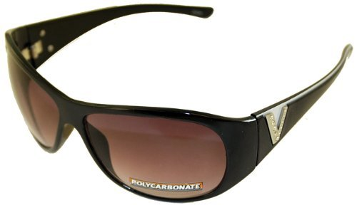 Mountain Shades Cima Fashion Sunglasses -- Dark Orchid Lens/ Black & White Accent Frame