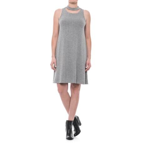 Choker Neck A-line Dress - Sleeveless (for Women)