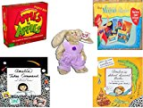 Girl's Gift Bundle - Ages 6-12 [5 Piece] - Apples to Apples Party Box - The Game of Crazy Combinations (Family Edition) - Little Mermaid 3 Story Books On Cassette and CD Toy - TY Attic Treasure Iris