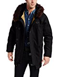 Alpha Industries Men's Treaty Wool Parka, Black, Large