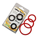 Ultimate54 Cock Rings Silicone Male Enhancement Exercise Bands Set of 6 Rings Discreet Packaging