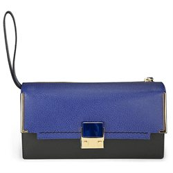 Lanvin Navy and Black Calfskin Partition Clutch Bag AW0MCABICP8A-20