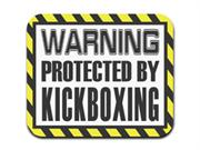 Warning Protected By Kickboxing Mousepad Mouse Pad