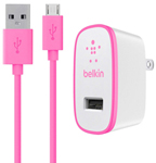 Belkin F8m667tt04-pnk Home Charger W/ Micro Usb Cable