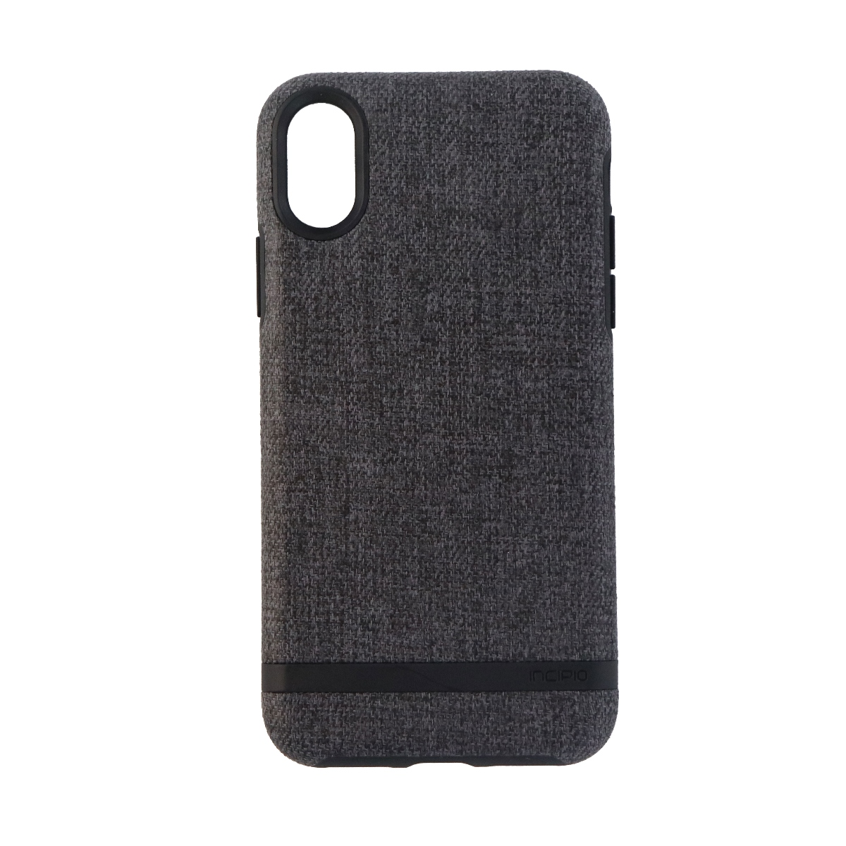 Incipio Esquire Series Hard Fabric Case for Apple iPhone X 10 - Dark Gray/Black