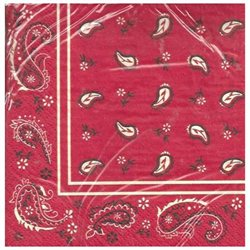 Classic Bandana Special Occasion Dinner Napkins Theme Party Celebrations 16 Ct