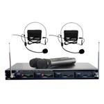 Pyle Audio T51500b Pyle-pro Pdwm4300 4 Mic Vhf Wireless Rack Mount Mic