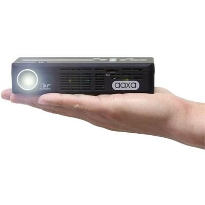 Aaxa Technologies Kp500-02 P4x Led Pico Projector  Pocket Size  Rechargeable Battery  125 Lumens  Hdmi  Media Player  15 000 Hour Led Life