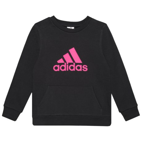 Cotton Fleece Sweatshirt - Crew Neck (for Big Girls)