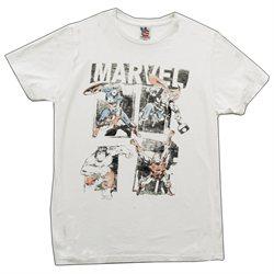 The Avengers Marvel Comics Lineup Vintage Style Junk Food Adult T-Shirt Tee