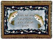 Special Brother Fishing Afghan Throw Blanket 40
