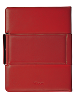Trexta 813365012812 Rotating Folio For  Ipad & The New Ipad - Premium Leather - Red
