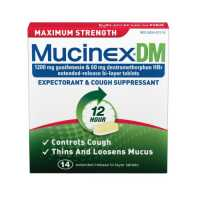 Mucinex DM Expectorant and Cough Suppressant Maximum Strength Extended Release Bi Layer Tablets 14 tablets
