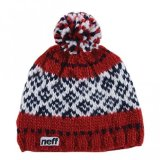 Neff Mens Pine Beanie Hat, Red, One Size