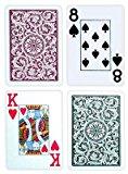 Copag Poker Size Jumbo Index 1546 Playing Cards (Green Burgundy Setup)