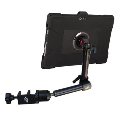 The Joy Factory Mwm109 Magconnect Edge M Wheelchair Carbon Fiber Mount For Surface Pro 3 With Ultra-slim Rugged Case