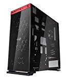 InWin 805 Red Tempered Glass Compact ATX Mid-Tower Computer Case (CF05)