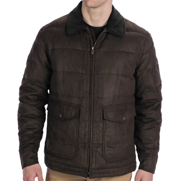 Rainforest Quilted Bomber Down Jacket - Microsuede Twill, Insulated (For Men)