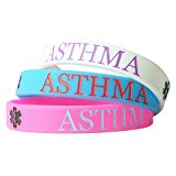 Hairyworm - Asthma Child Size Silicone Wristband Combi Pack (pack of 3 Wristbands)
