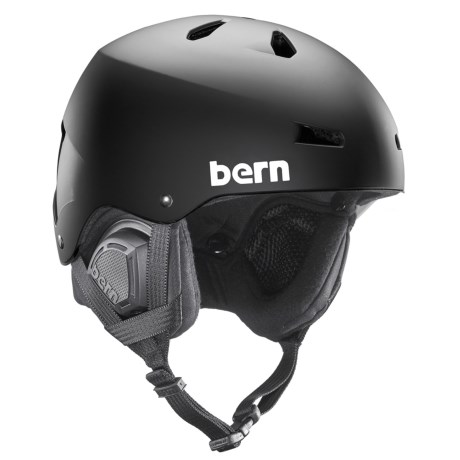 Bern Macon Ski Helmet - 8tracks(r) Audio, Winter Liner