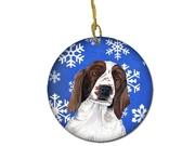 Welsh Springer Spaniel Winter Snowflakes Holiday Ceramic Ornament Sc9380