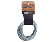 Rayon Satin Rattail Cord 3mm Silver 6 Yd - Knot & Braid