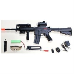 1:1 Scale RED DOT VERSION, Laser included M16 Airsoft Gun Electric Automatic Air Soft Rifle FULL AUT