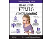 Head First HTML5 Programming Head First 1 Binding: Paperback Publisher: Oreilly & Associates Inc Publish Date: 2011/10/19 Synopsis: Presents information on using HTML5 to create dynamic, data-rich Web pages, covering such topics as geolocation, 2D drawing, Web storages, and Web workers