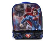 Batman Vs Superman Dual-compartment Childrens Kids Boys Girls Insulated Lunch Box School Picnic Bag