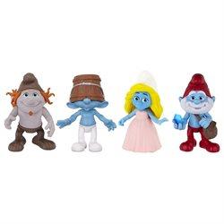 Smurfs Figure 4 Pack - Smurfette, Clumsy, Hackus, Papa