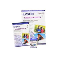 Epson Premium Glossy Photo Paper - Glossy - Super B (13 in x 19 in) 20 sheet(s) photo paper - for Expression Photo HD XP-15000  SureColor SC-P405  T5200  T7200  WorkForce WF-7