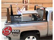 Bak Industries 90-26307tbt Bakflip Cs Hard Folding Tonneau Cover W/ Contractors Sliding Rack System And Bakbox