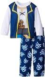 Disney Little Boys' Jake and The Neverland Pirates Pirate Costume Pajama Set ,Multi ,4T