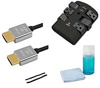 The Onn ONA12AV029 HDTV Essentials Kit helps you to clean and maintain your TV viewing at the best level