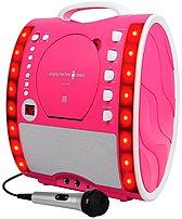 Singing Machine Classic Series Sml343p Cd   Graphics Karaoke Machine - 2 Microphone Jack - Pink